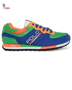 POLO Ralph Lauren - Baskets basses - Homme - Sneakers Slaton Polo Bleu Multi pour homme - 40 - Chaussures polo ralph lauren (*Partner-Link)