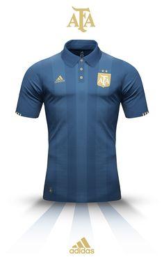 esta es una camisa de Argentina. el color es azul.   la camisa es de addidas.