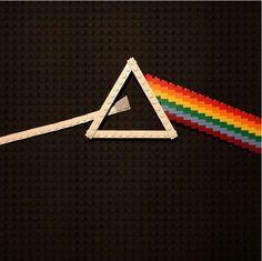 Bricked Album Artwork, Dark side of the moon, Pink Floyd with LEGO