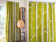 Ink & Spindle curtains (birch in olive) Playroom Design, Living Spaces, Living Room, New Room, Apartment Living, Decorative Items, Kids Bedroom, Screen Printing, Sweet Home