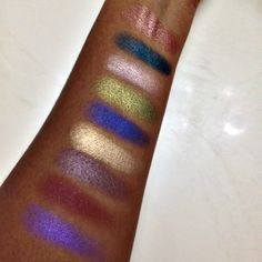 Review & Swatches of the new Makeup Geek Foiled Eyeshadows by Beauty By Jasmine!