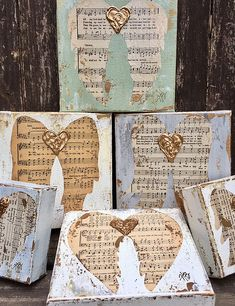 Best Christmas Crafts Part 89 D N Angel, Angel Art, Angel Wings, Sheet Music Crafts, Sheet Music Art, Christmas Art, Christmas Decorations, Christmas Canvas, Crafts To Make
