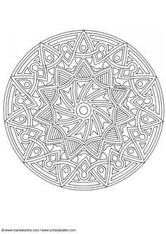 Kleurplaat mandala-1702f
