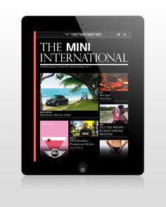 The MINI International iPad App. For Meiré und Meiré Detroit Auto Show, Ipad App, Mini, Projects, Design, Log Projects, Blue Prints