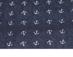 Stoff Jeans * kleine Anker * dunkelblau bei Dawanda