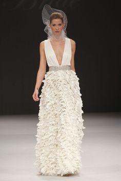 Sexy and Romantic wedding gown. Badgley Mischka