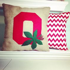 This adorable Ohio pillow is the perfect accent for any Ohio Sate fan!    This listing is for the following:    (1) stuffed appliqué state pillow