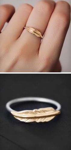 A feather ring