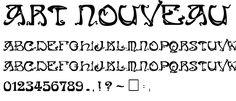 art nouveau kalligrafie | , Art Nouveau Caps.zip, is een gecomprimeerde file die de file 'Art ...