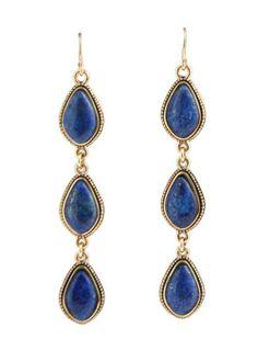 Persian Blue Lapis Drop Earring Barse Jewelry, Persian Blue, Lapis Lazuli, Iran, Labradorite, Color Patterns, Jewelry Accessories, Bronze, Drop Earrings