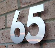 Modern Floating House Numbers in Metal or Acrylic Door Number Sign, Door Numbers, Door Signs, House Signs, Contemporary House Numbers, Modern Contemporary Homes, Name Plates For Home, My Home Design, Plan Design