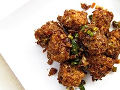 Vegetable Manchurian  add little boiled noodles and instead of flour n cornflour add wheat flour mix n fry