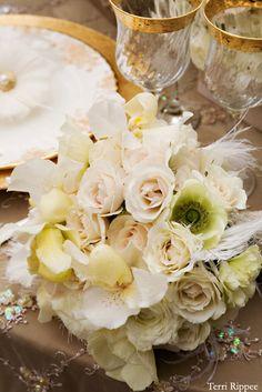 Romantic fairy tale bridal bouquet