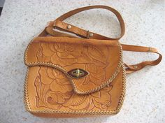Lovely hand tooled leather purse
