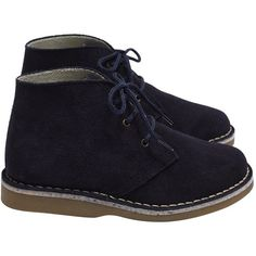 Desert boots ($69) ❤ liked on Polyvore featuring shoes, boots, navy desert boots, cocktail shoes, desert boots, safari boots and holiday shoes
