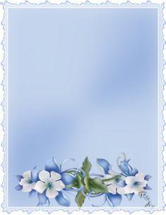 Letölthető levélpapír kék virágos