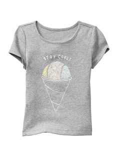 Baby Gap Kids Short Sleeve Stay Cool Ice Cream Tee SZ 5 5T NWT #GapKids #DressyEveryday