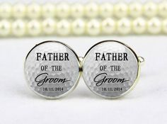 Father of the groom cufflinks custom golf cufflinks custom any text or photo personalized cufflinks custom wedding cufflinks groom gift (10.00 USD) by cufflinkworlds