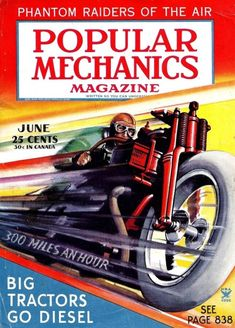 SCIENCE MAGAZINE COVER POPULAR MACHANICS HELICOPTER GARAGE FUTURE POSTER BB7352B