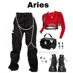 Zodiac series What's your zodiac sign? Would you wear the outfit? (Check out other post if you can't find your sign) Outfits Otoño, Other Outfits, Stage Outfits, Grunge Outfits, Fashion Outfits, Blackpink Fashion, Tumblr Fashion, Dark Fashion, Fashion Check