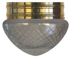 ... - Taklampa Heidenstamplafond 200 mönstrat klarglas - Sekelskifte