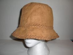 The Scala Collection Faux Suede Western Bucket Sun Hat Cap Women's One Size | eBay