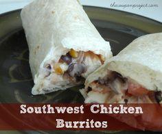 Southwest Chicken Burritos Recipe (Freezer Friendly!)