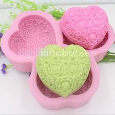 Heart Shaped Rose Flower Fondant Cake Chocolate Silicone Mold Cake Decoration ToolsL14.5cmW14.5cmH3cm  http://www.shareasale.com/m-pr.cfm?merchantID=51900&userID=1014066&productID=558976796