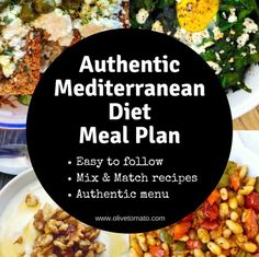 Authentic Mediterranean Diet Meal plan and menu -You can find Mediterranean and more on our website.Authentic Mediterranean Diet Meal plan and menu - Mediterranean Diet Meal Plan, Mediterranean Dishes, Mediterranean Breakfast, Mediterranean Diet Shopping List, Easy Mediterranean Recipes, Smoothie Diet, Dieta Dash, Med Diet, Ideas