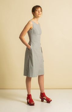 Made from 100 % recycled materials in Loksa, Estonia. Wrap Jumpsuit, Sustainable Fashion, Dresses For Work, Grey, Collection, Gray