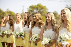 Yellow Bridesmaid skirts by Frill Clothing!!! (frillclothing.com)
