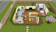 Sims freeplay yellow themed house
