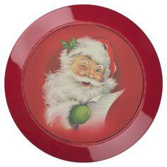 Vintage Santa Claus Christmas USB Charging Station