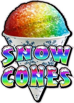 """28"""" Snow Cone Concession Trailer Food Ice Cream Truck Cart Vending Sign Decal"""