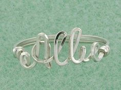 Personalized Name Ring Sized to Fit, $29.95