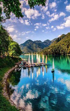 At the Lake Ledro in Italy.