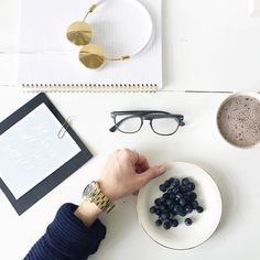 Saturday morning #blueberries #desktop #navy by blushshop