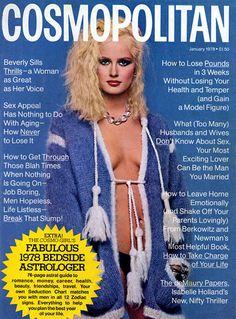Cosmopolitan magazine, JANUARY 1978 Model: Bitten Knudsen Photographer: Francesco Scavullo