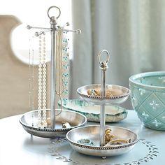 Sophia Jewelry Dish & Necklace Stand   Ballard Designs