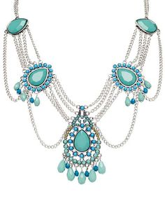 Robert Rose Teal & Turquoise Statement Necklace <3