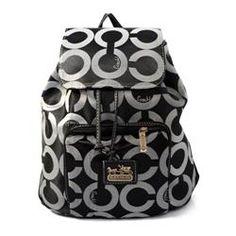 coachoutlets n8xn  Coach Classic In Signature Medium Black Backpacks EJA