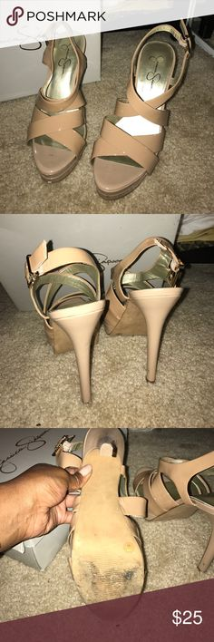 Nude Sandals. Slightly worn Jessica Simpson Shoes Sandals