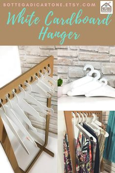Cardboard Sculpture, Cardboard Display, Etsy Crafts, Fun Crafts, Space Saving Hangers, Personalized Hangers, Handmade Items, Handmade Gifts, Sustainable Gifts
