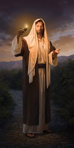 """One of my favorite pictures of the Savior! """"Lead, Kindly Light"""" by Simon Dewey."""