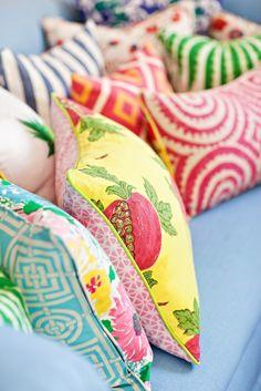 Colourful fun cushions Photographer Kirstine Mengel like this