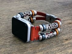 HIGHLIGHTS: The Bobbie Boho Apple Watch band will put that distinctive flare to your Apple Watch youre looking for. This brand new design is hand crafted with high quality genuine leather and beads. Each Apple Watch band kit comes a small flat head screwdriver for resizing and