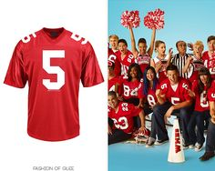 Thanks to stlindsey who has directed me ito FOX Glee official store, which among things like DVDs and shirts, has a McKinley football jersey! This isn't just any football jersey, it's official merchandise! So knock yourselves out. Glee McKinley High Football Jersey - $49.95 Worn in: 1x02 'Showmance', 1x04 'Preggers' 2x00 Season 2 Promotion, 2x01 'Audition', 2x03 'Grilled Cheesus', 2x11 'The Sue Sylvester Bowl Shuffle', ...