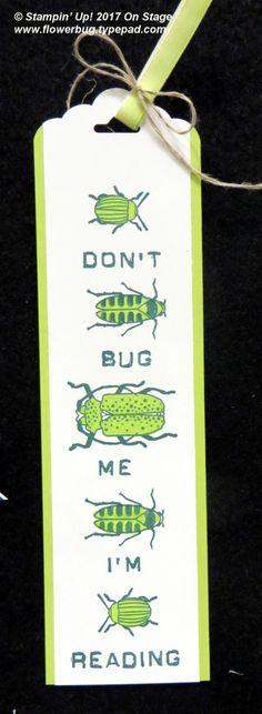 'Don't Bug Me' Bookmark