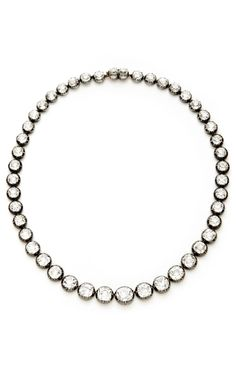 Shop Antique Silver And Gold Diamond Riviere Necklace by Stephen Russell Now Available on Moda Operandi