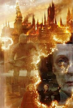 This was such an amazing spell! Love this part of the movie, poor Hogwarts...